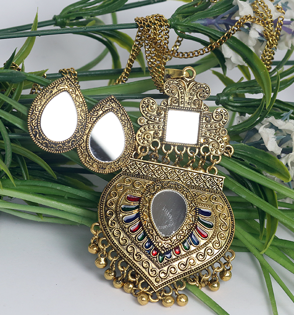 Turkish Design Antique Necklace Set With Earrings (PS-182) Gallery Image 1