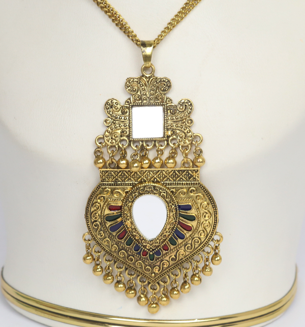 Turkish Design Antique Necklace Set With Earrings (PS-182) Gallery Image 2