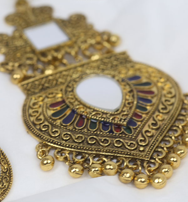 Turkish Design Antique Necklace Set With Earrings (PS-182) Gallery Image 3