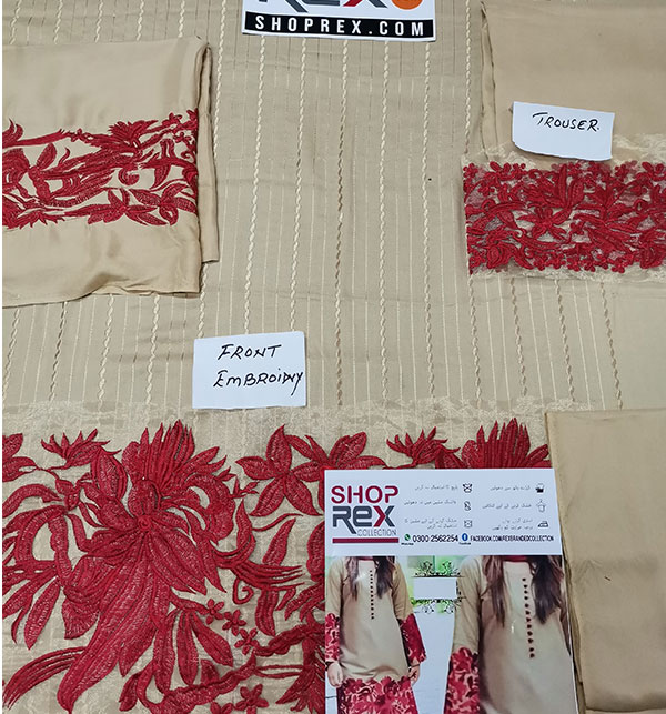 Linen Heavy Embroidered Dress 2 Pce UnStitched (LN-131) Gallery Image 1