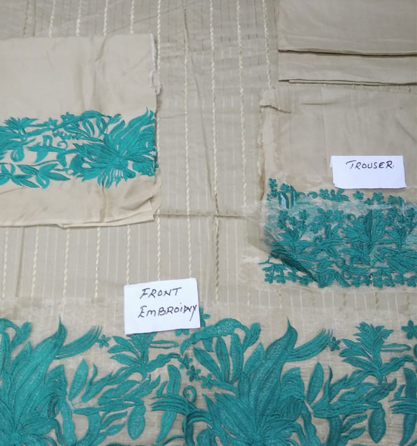 Linen Embroidered 2-Pcs Suits UnStitched(LN-133) Gallery Image 1