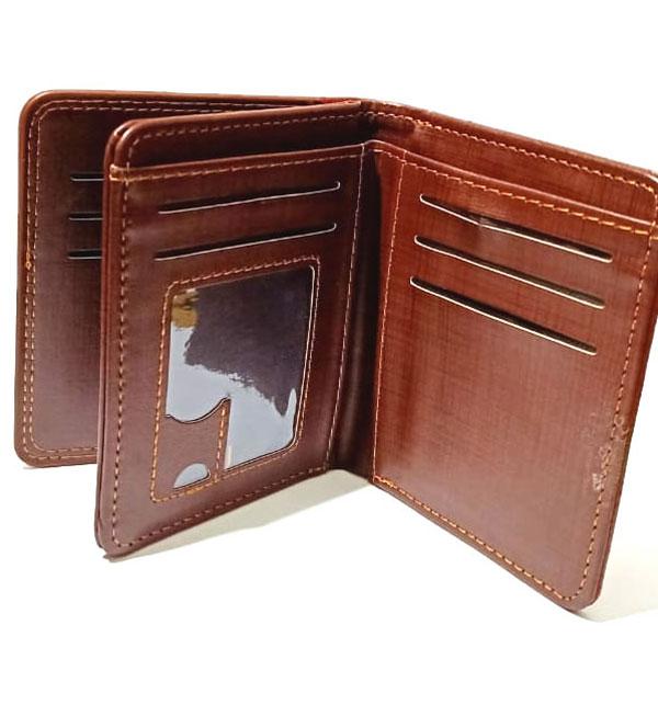 Gents Leather Wallet Flip-Window (W-10) Gallery Image 1