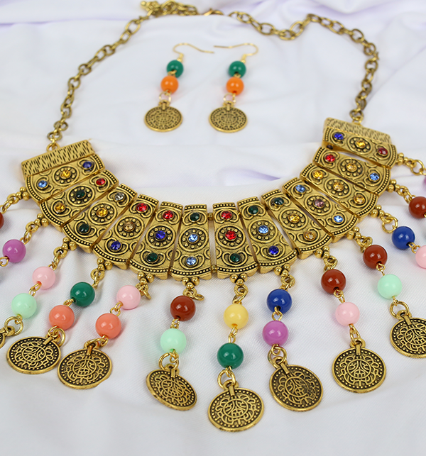 Stylish Multi COlor Jewelry Set  For Girls (PS-194) Gallery Image 1