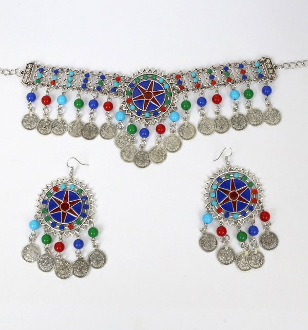 Turkish Necklace Set With Earrings (PS-195) Gallery Image 1