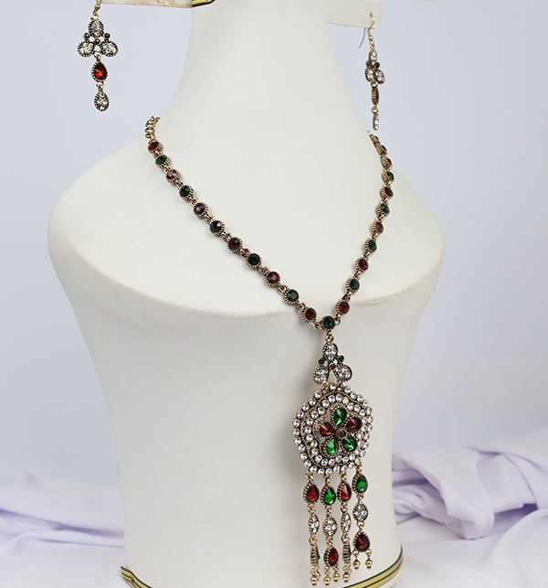 Beautiful  Design Mala Necklace Set With Earing For Women (PS-197)	 Gallery Image 1