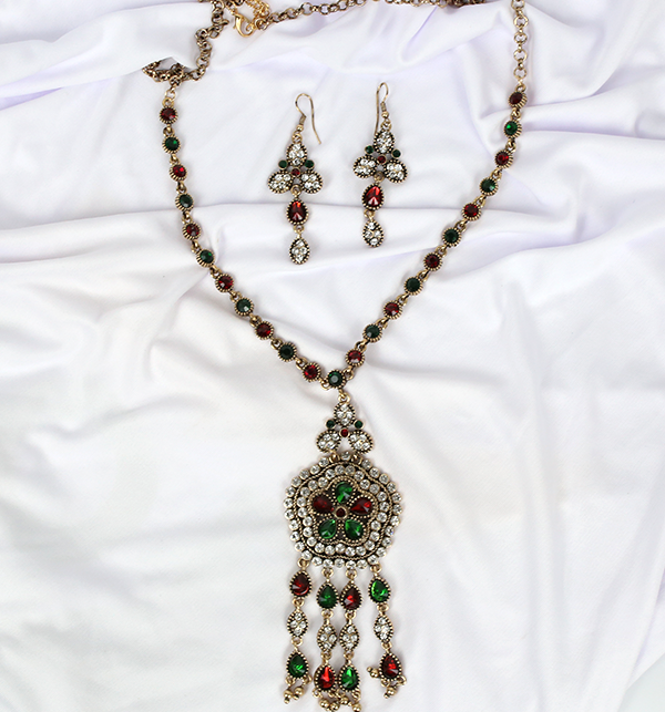 Beautiful  Design Mala Necklace Set With Earing For Women (PS-197)	 Gallery Image 2