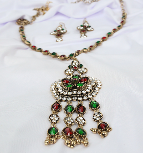 Beautiful  Design Mala Necklace Set With Earing For Women (PS-197)	 Gallery Image 3
