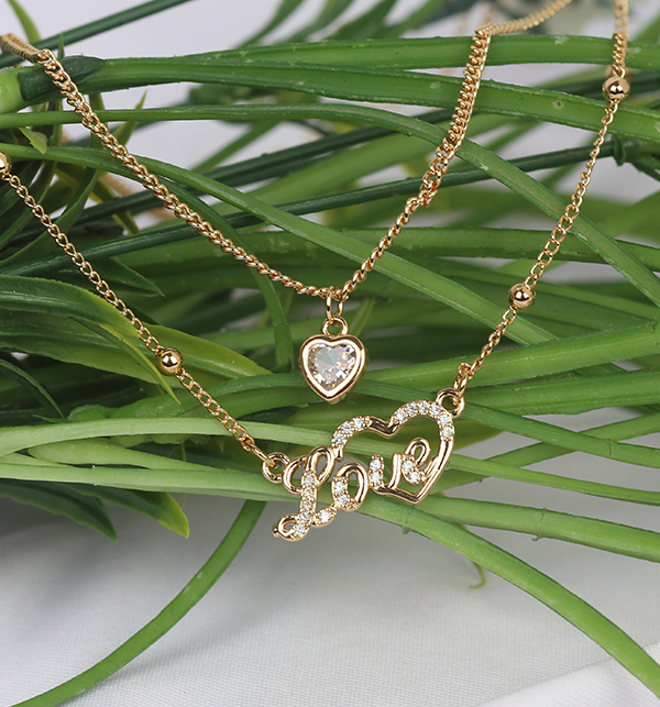 Loving Hearts Necklace Gift For Women (PS-207) Gallery Image 1