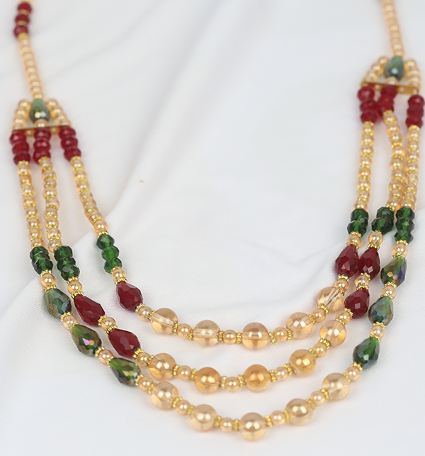 Classic Multi Colour Mala For Girls (PS-209) Gallery Image 1
