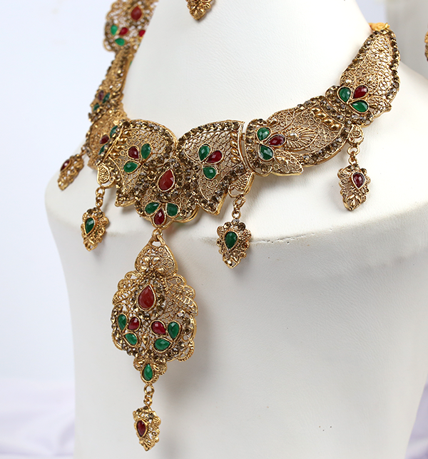Beautiful Bridal MultiColor Jewelry Sets Design (PS-215) Gallery Image 1