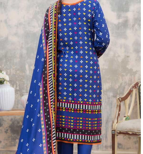 Sahil Printed Linen 3 Piece Unstitched Suit (SLN-01) Gallery Image 2