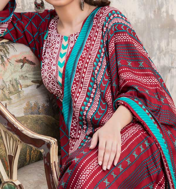Sahil Printed Linen 2020 Unstitched Suit (SLN-04) Gallery Image 1