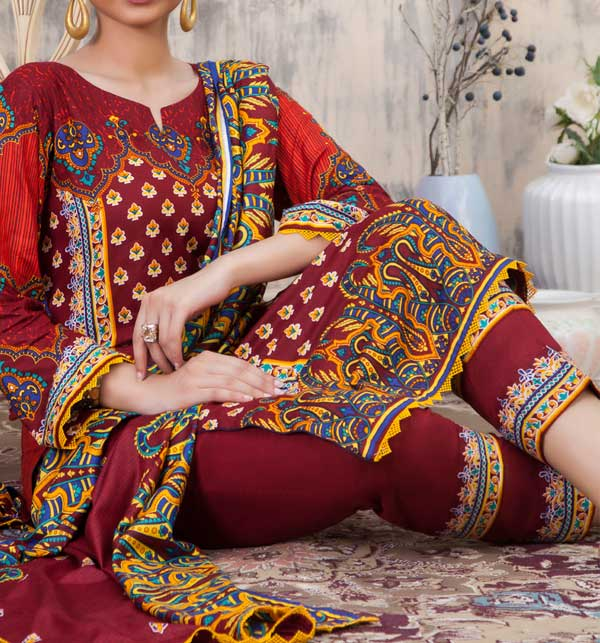 Sahil Printed Linen 3 Piece Unstitched Suit (SLN-10) Gallery Image 1