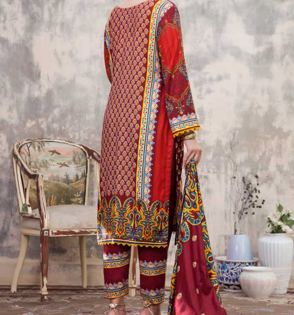Sahil Printed Linen 3 Piece Unstitched Suit (SLN-10) Gallery Image 2