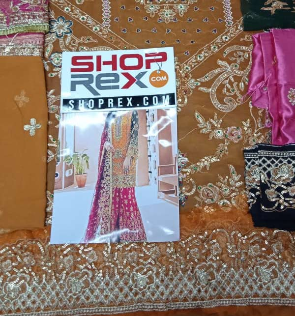 Bridal Chiffon Collection 4 Side Embroidery Dupatta Unstitched (CHI-391) Gallery Image 2