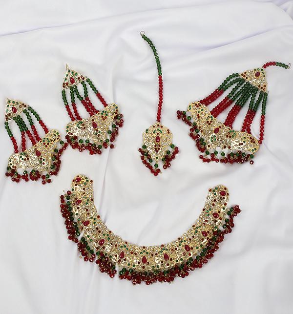 Hyderabadi 9Ratan Multi Stones Stylish Necklace Set (PS-222) Gallery Image 1