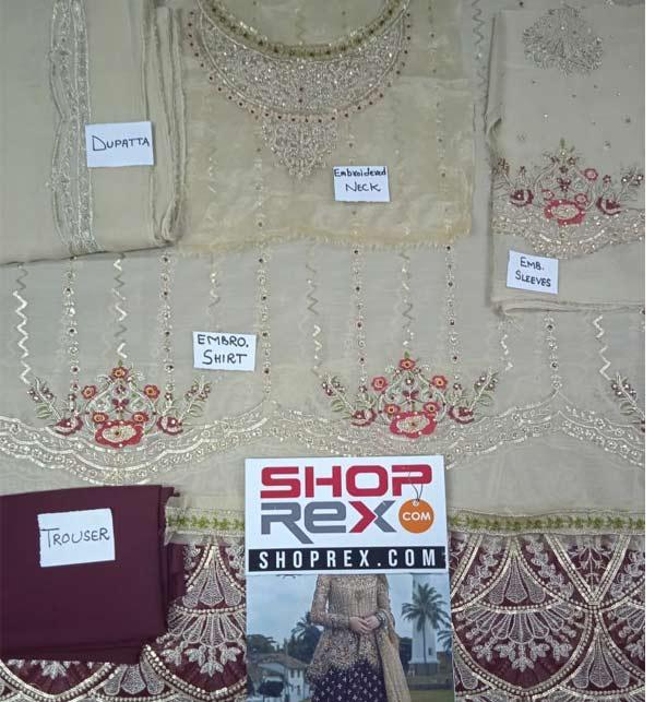 Chiffon Full Heavy Suit With Chiffon Lahenga & Chiffon Dupatta Unstitched (CHI-395) Gallery Image 1