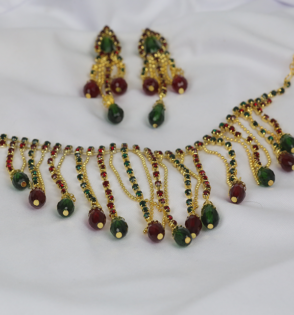 Beautiful Necklace Set With Earrings (PS-229) Gallery Image 1