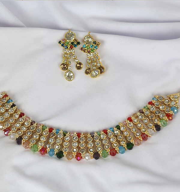 Multicolor Party Necklace Set 2020-21 For Women (PS-234) Gallery Image 1
