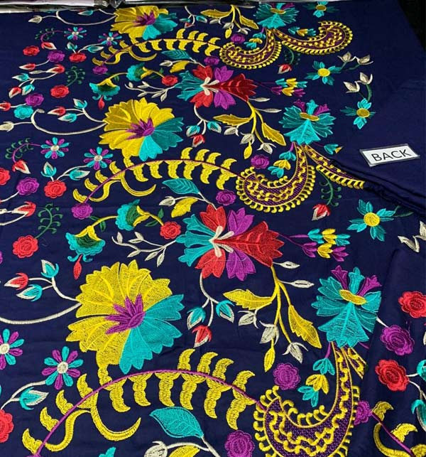 Linen Heavy Embroidered Suit Embroidery Trouser 2 Pec Dress (KD-122) Gallery Image 2