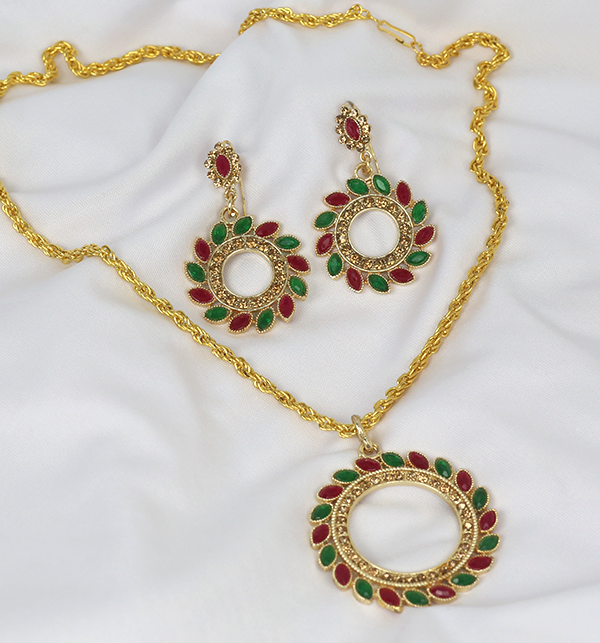 Beautiful Necklace Set  With Earrings  (PS-241) Gallery Image 1