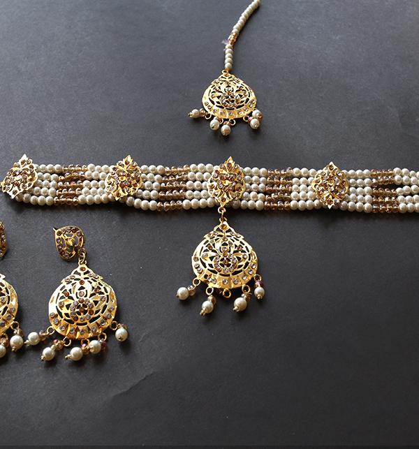 Hyderabadi Jewellery Set With Earing & Matha Patti (PS-243) Gallery Image 2