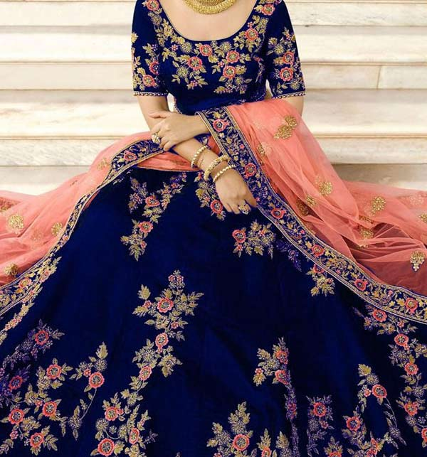 Indian Designer Chiffion Suit With Net Embroidery Duppata (CHI-401) Gallery Image 2