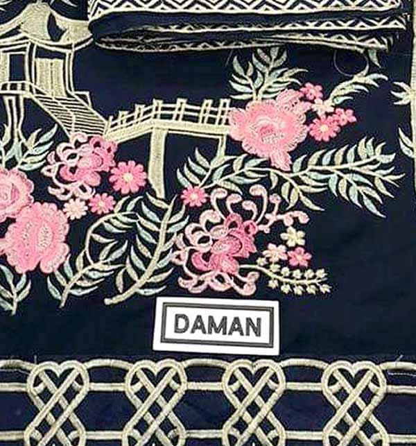 Embroidered Chiffon Wedding Dress With Embroidered Chiffon Dupatta Unstitched (CHI-411)  Gallery Image 3
