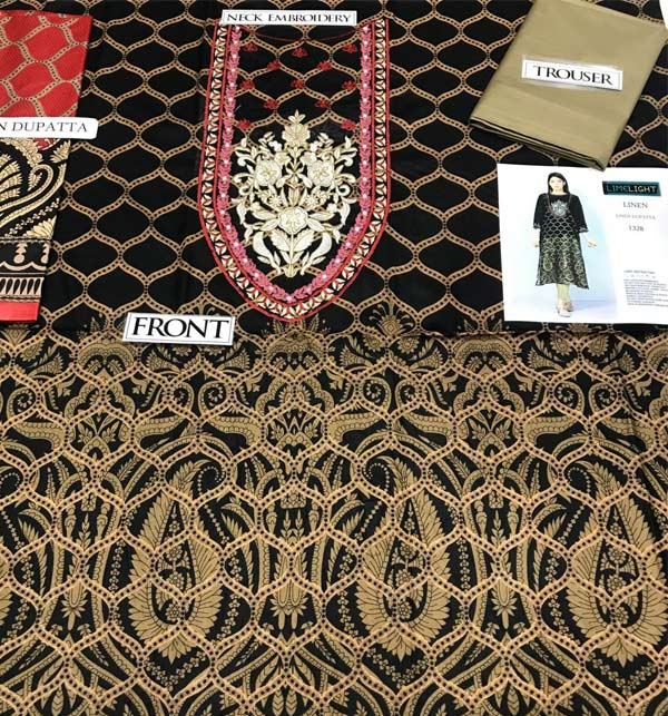 Pack OF 2 Winter Sale Khaddar + Linen Heavy Full Embroidered Dress 2021 UnStitched (LN-167) & (KD-92) Gallery Image 2