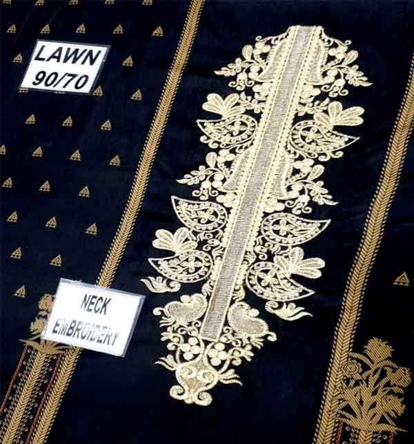 Lawn Embroidered Dress With Chiffon Dupatta  3PC SUIT (DRL-658) Gallery Image 4