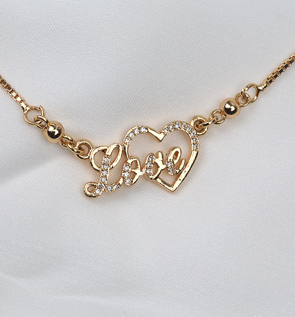 Love & Heart Necklace Pendant Jewelry Women Gift  (PS-252) Gallery Image 1