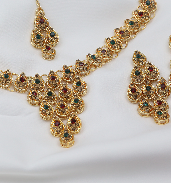 Latest Bridal Artificial Jewellery Designs For Ladies  (PS-256) Gallery Image 2