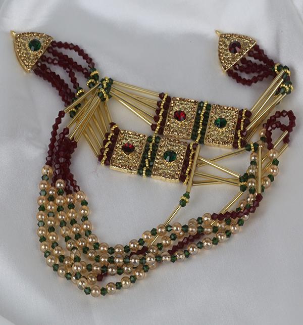 Multi Color Beautiful Mala Jeweler Set (PS-259) Gallery Image 1