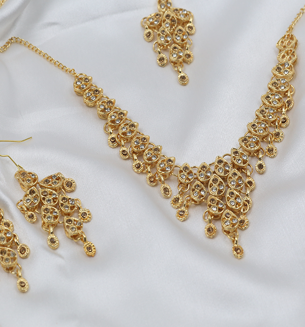 Golden Stylish Artificial Jewellery Set (PS-260) Gallery Image 1