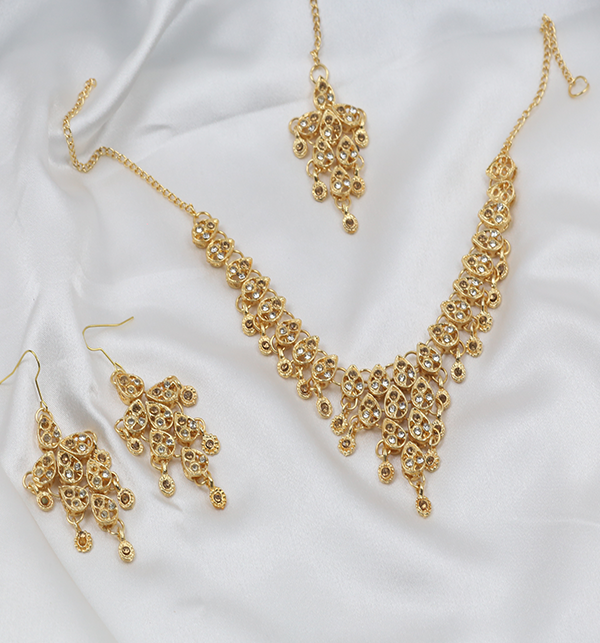 Golden Stylish Artificial Jewellery Set (PS-260) Gallery Image 2