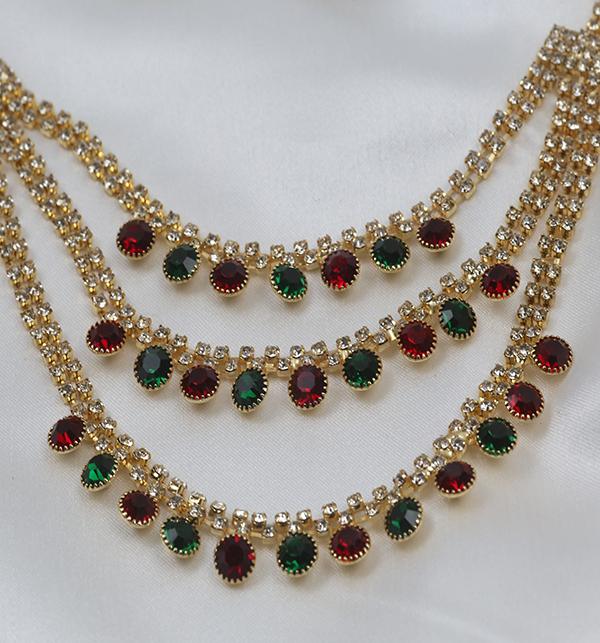Multi Color Bridal Artificial Mala Jewellery Set (PS-262) Gallery Image 1