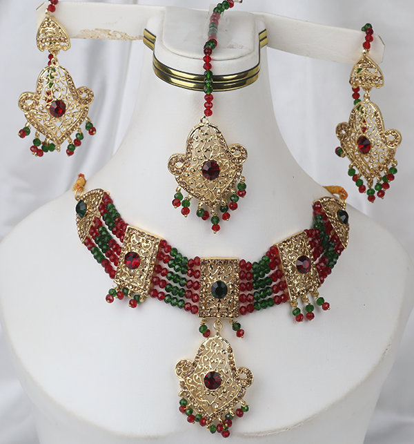 Multi Color Golden Stylish Artificial Jewellery Set (PS-265) Gallery Image 1