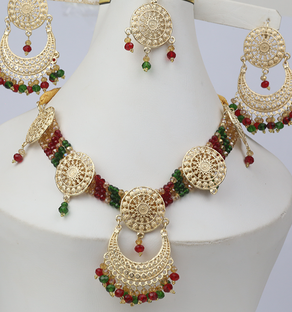 Multicolor jewelry Set With Matha Patti (PS-268) Gallery Image 1