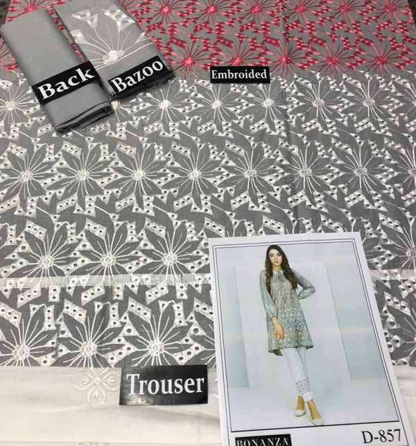 Lawn Full Heavy Embroidery Suit With Trouser Embroidery (DRL-700) Gallery Image 1