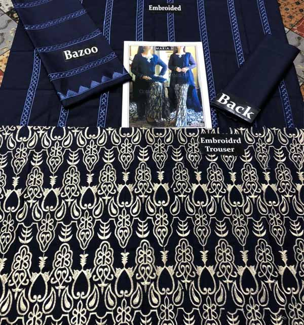 2 Pieces Embroidery Suit With Trouser Embroidery 2021 (DRL-702) Gallery Image 1