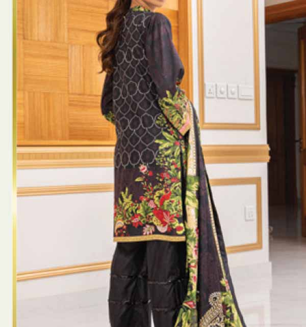 Anum 3 Piece Printed Lawn Dress With Lawn Dupatta (ANL-06) Gallery Image 1