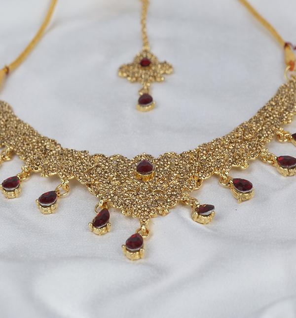 Beautiful Women Necklace Set Earring & Matha Patti (PS-276) Gallery Image 2