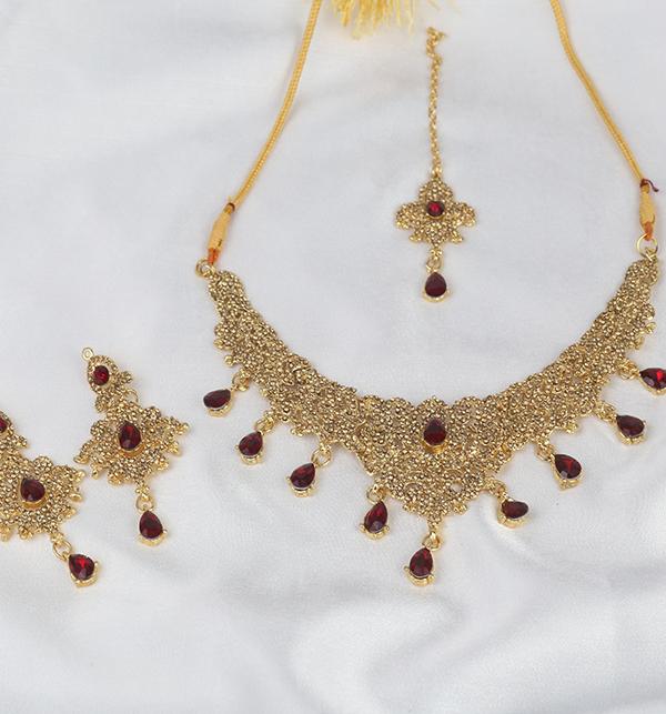 Beautiful Women Necklace Set Earring & Matha Patti (PS-276) Gallery Image 3