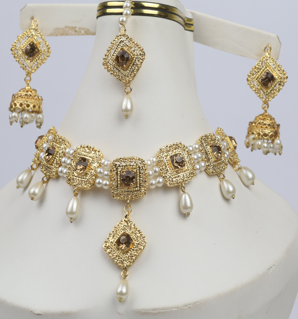 Pearl  Bridal Jewelry Set  (PS-282) Gallery Image 1