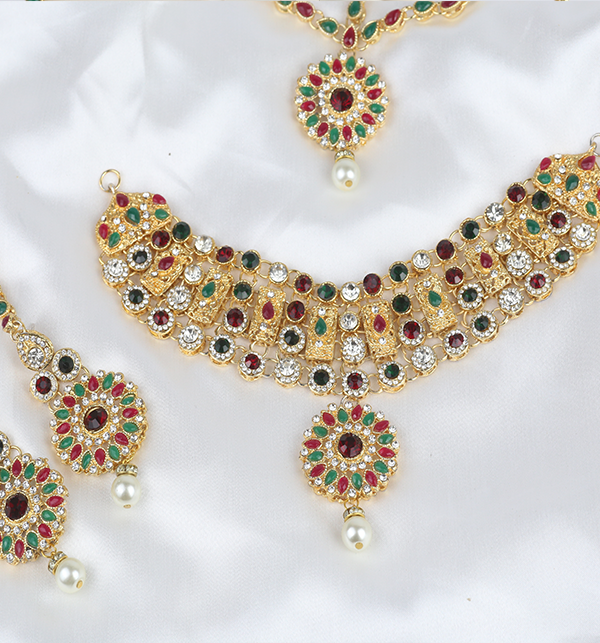 Multi Color Jewelry Set For Girls Online  (PS-283) Gallery Image 1