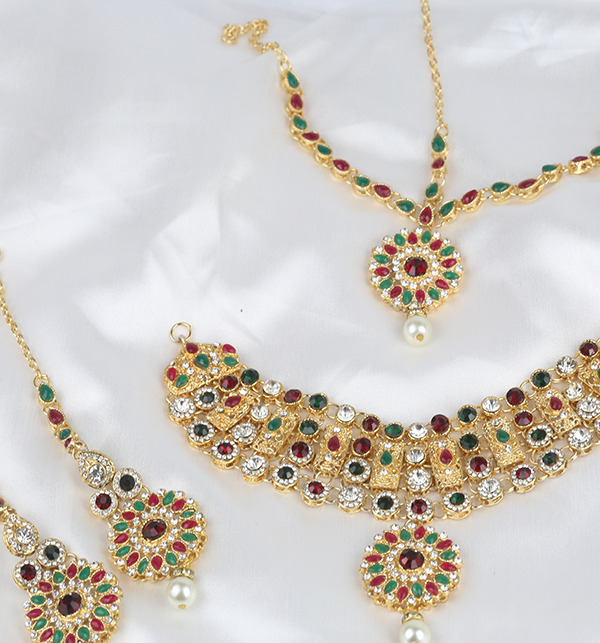 Multi Color Jewelry Set For Girls Online  (PS-283) Gallery Image 2