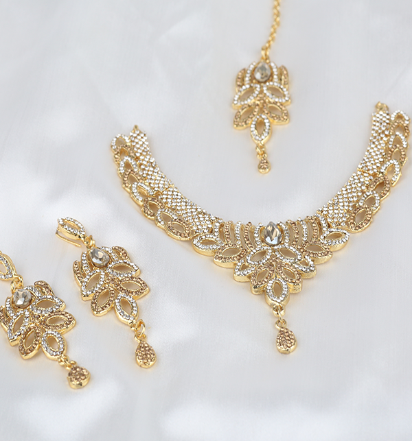 Eid Collection Jewelry Set With Earring & Matha Patti  (PS-286) Gallery Image 1