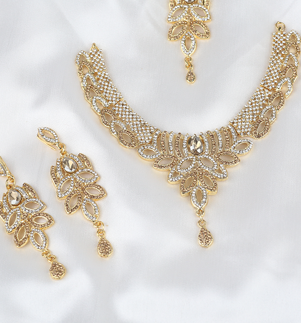 Eid Collection Jewelry Set With Earring & Matha Patti  (PS-286) Gallery Image 2