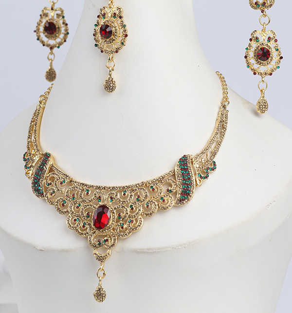 Jewellery Set For Girls Latest Design Necklace,Earrings (PS-288) Gallery Image 1