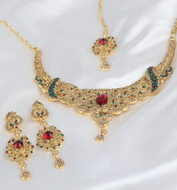 Jewellery Set For Girls Latest Design Necklace,Earrings (PS-288) Gallery Image 2